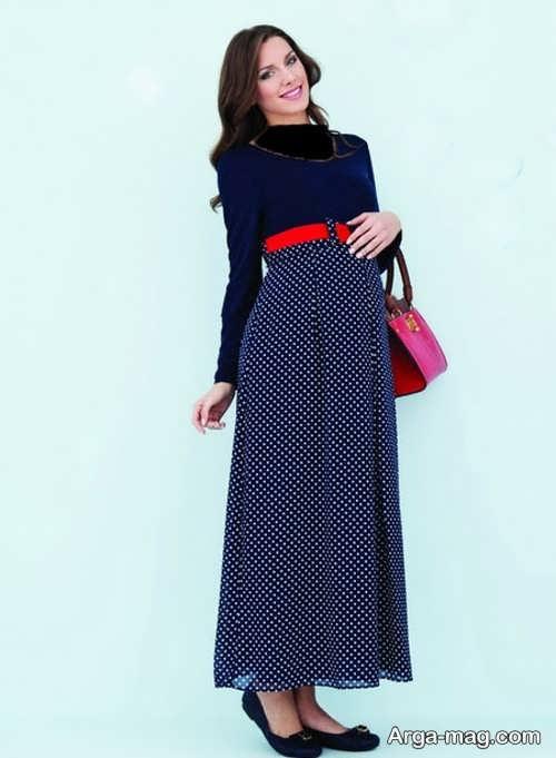 مدل لباس بارداری ایرانی طرح دار