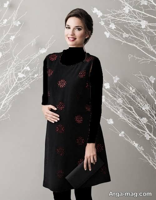 مدل لباس بارداری ایرانی طرح دار و زیبا