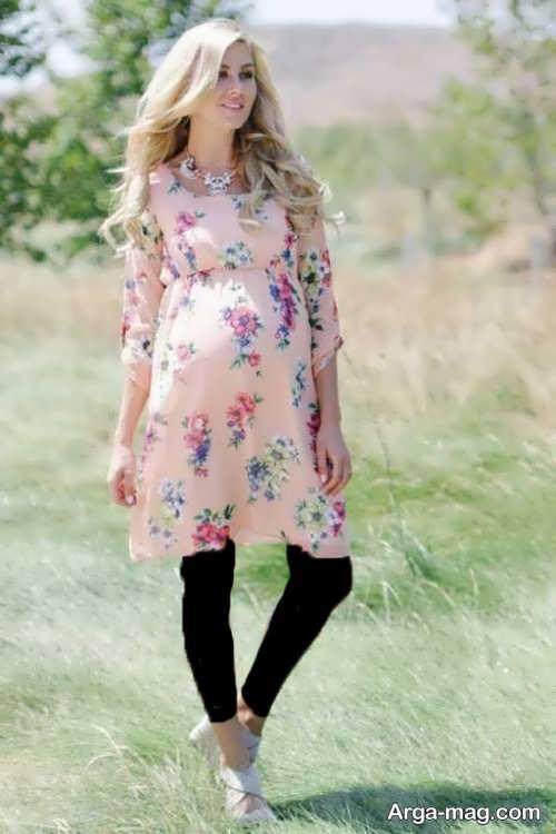 مدل لباس گلدار بارداری