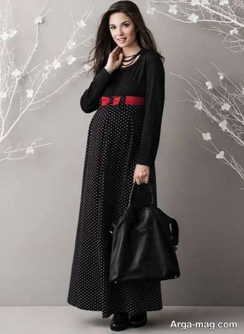 مدل لباس بارداری بلند و مشکی