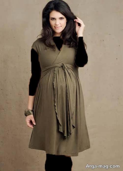 مدل لباس بارداری ایرانی کوتاه و شیک