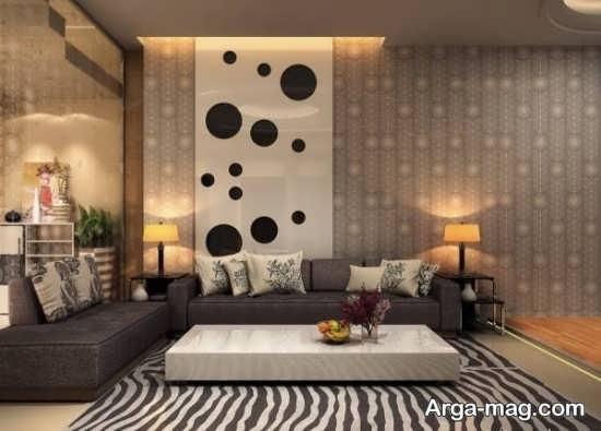 تزیینات مدرن اتاق نشیمن