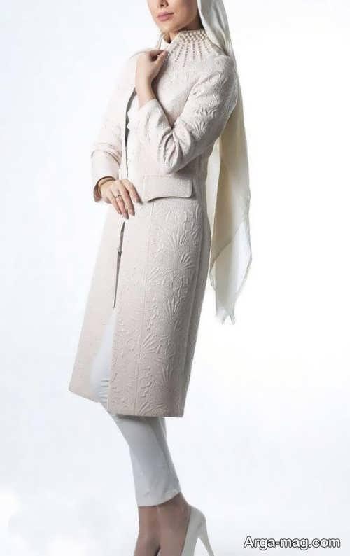 مدل مانتو بلند و زیبا عروس