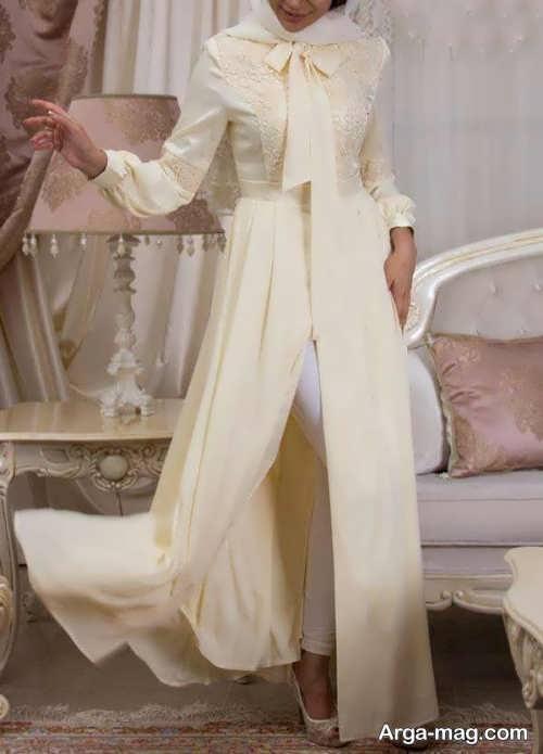 مدل مانتو بلند و جذاب عروس