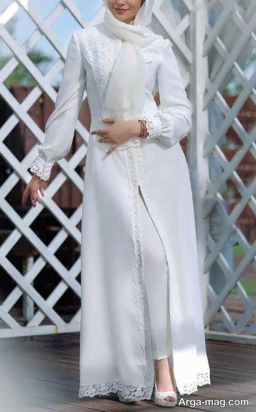 مدل مانتو بلند شیک عروس
