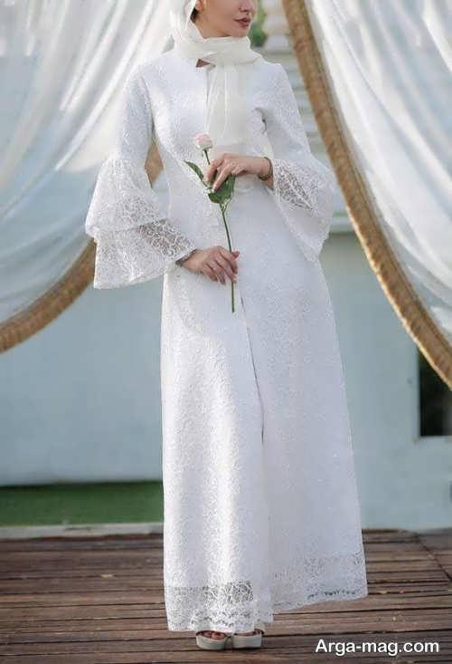 مدل مانتوی بلند عروس شیک