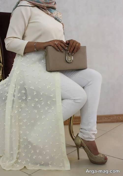 مدل مانتو بلند عروس