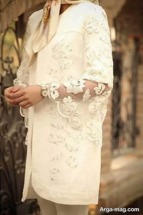 مدل مانتو عروس کوتاه