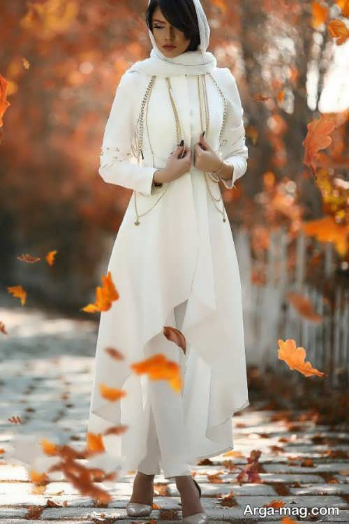 مدل مانتو بلند و شیک عروس