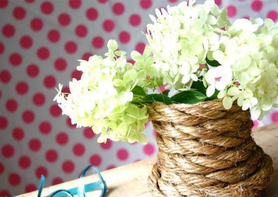 مدل کاردستی گلدان زیبا و شیک