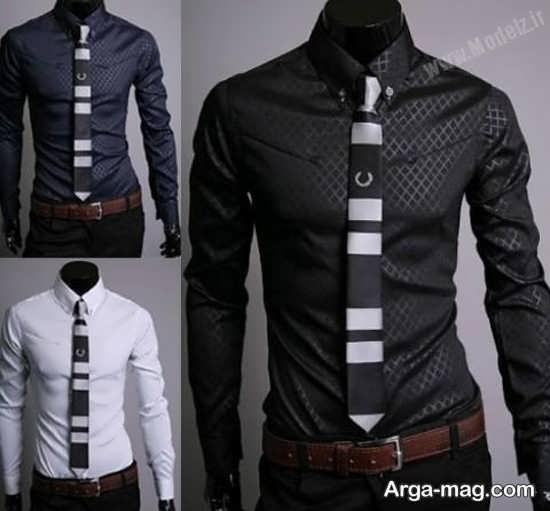 تیپ رسمی با پیراهن مردانه