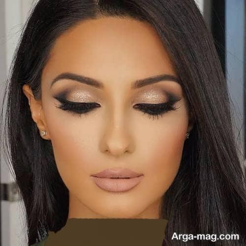 مدل آرایش چشم ملایم زنانه