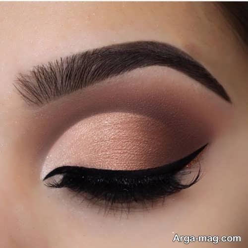 مدل آرایش چشم ملایم زنانه شیک و جدید