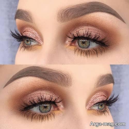 مدل آرایش چشم ملایم خاص و جذاب