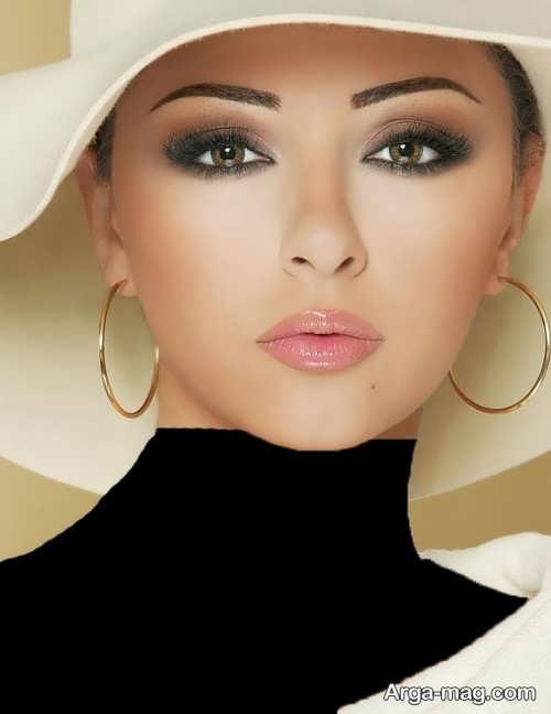 مدل آرایش چشم ملایم عروس
