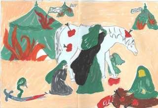 نقاشی محرم برای رنگ آمیزی کودکان