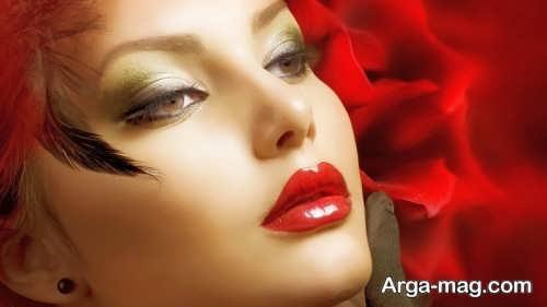 مدل آرایش صورت خاص و جذاب