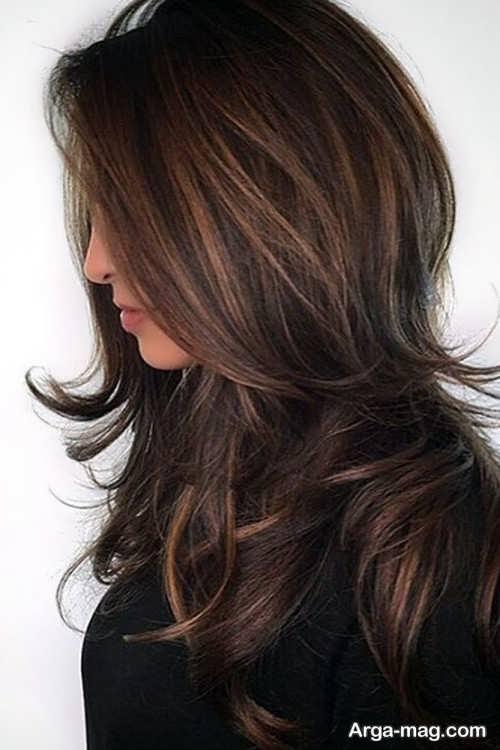 رنگ موی تیره قهوه ای زیتونی