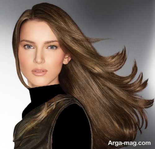 رنگ موی زیبا و شیک قهوه ای زیتونی