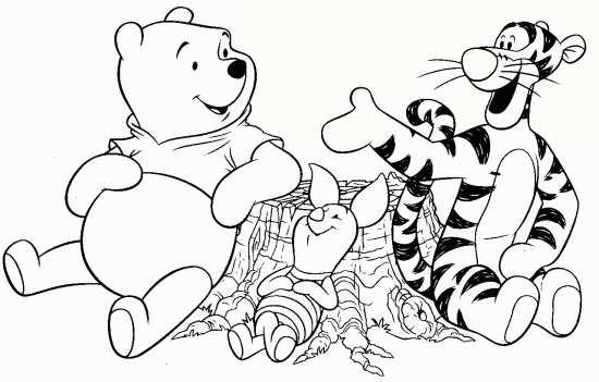 نقاشی کودکانه خرس کوچولو و ببر