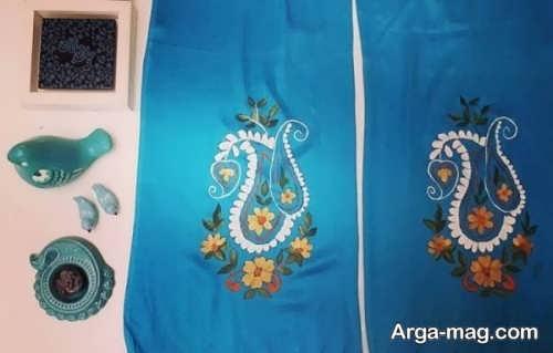 نقاشی سنتی روی روسری