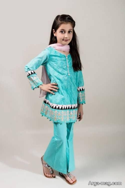 مدلی از لباس پاکستانی دخترانه
