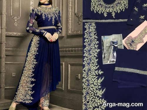 مدل لباس طرح دار و زیبا پاکستانی