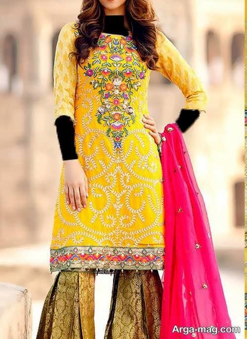 مدل پیراهن کوتاه و شیک پاکستانی