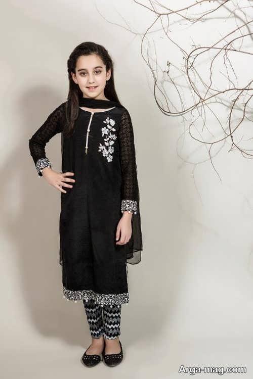 مدل پیراهن پاکستانی مشکی