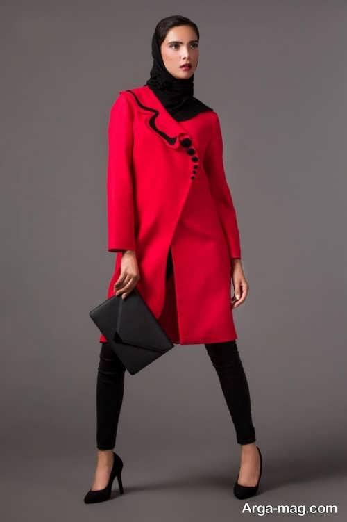 مدل مانتوی کوتاه و شیک قرمز