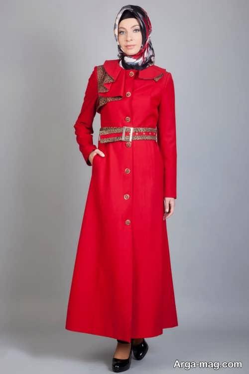مدل مانتو قرمز مجلسی شیک و زیبا