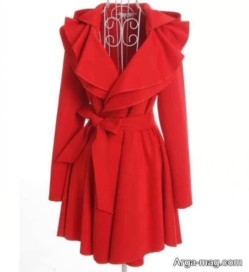 مدل مانتو اسپرت دخترانه قرمز