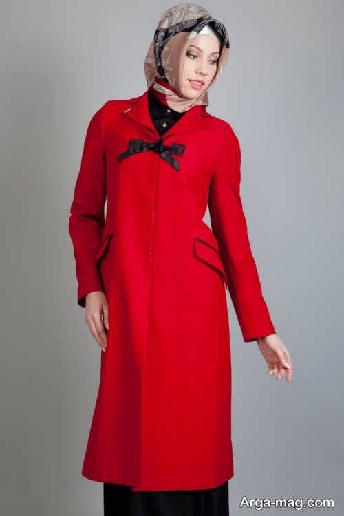 مدل مانتو ساده قرمز
