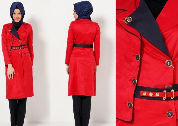 مدل مانتو قرمز دخترانه و زنانه