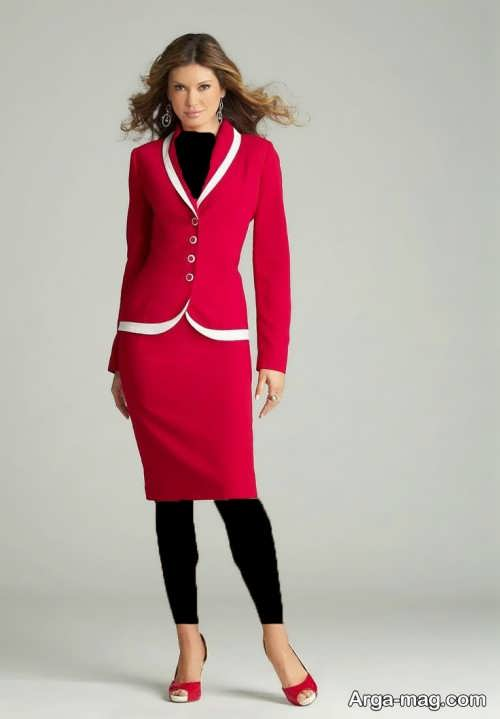 مدل کت دامن قرمز