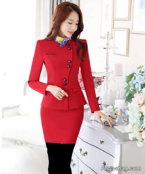 مدل کت و دامن قرمز