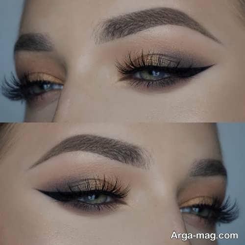 مدل آرایش چشم ساده و ملایم