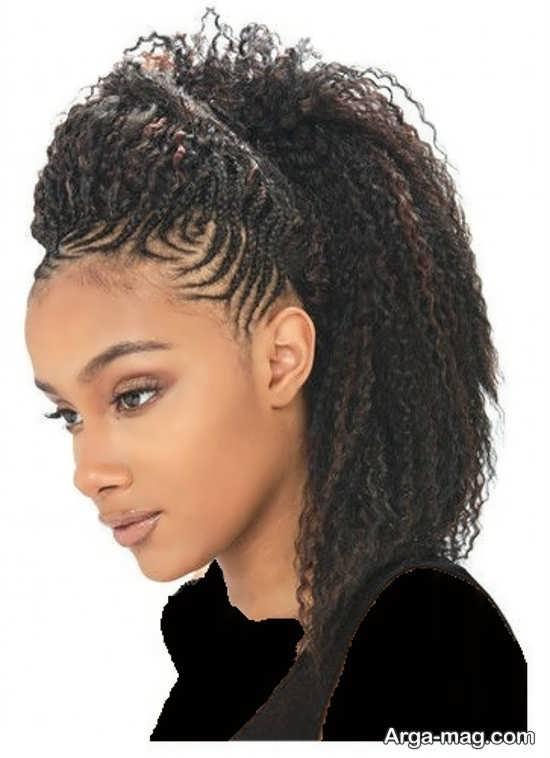 مدل بافت آفریقایی زیبا