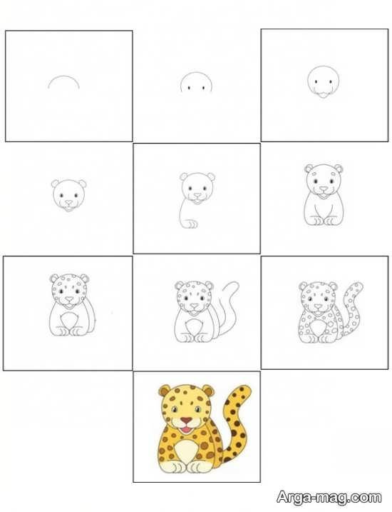 طراحی ببر کودکانه
