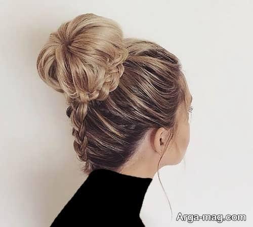 مدل آرایش موی گوجه ای زیبا و شیک