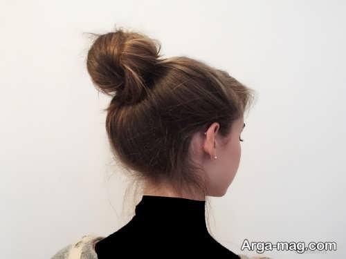 مدل شینیون موی گوجه ای زنانه