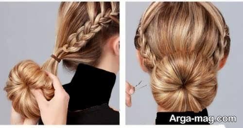 مدل آرایش موی خاص و زیبا گوجه ای