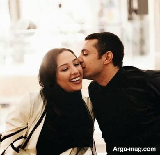 بوسه عاشقانه اشکان خطیبی
