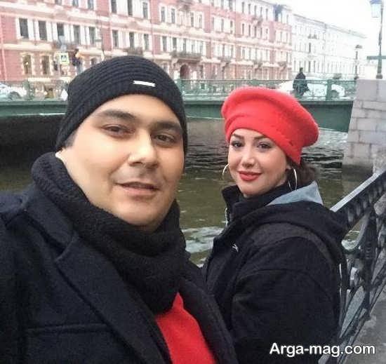 رضا داوودنژاد و همسرش در روسیه