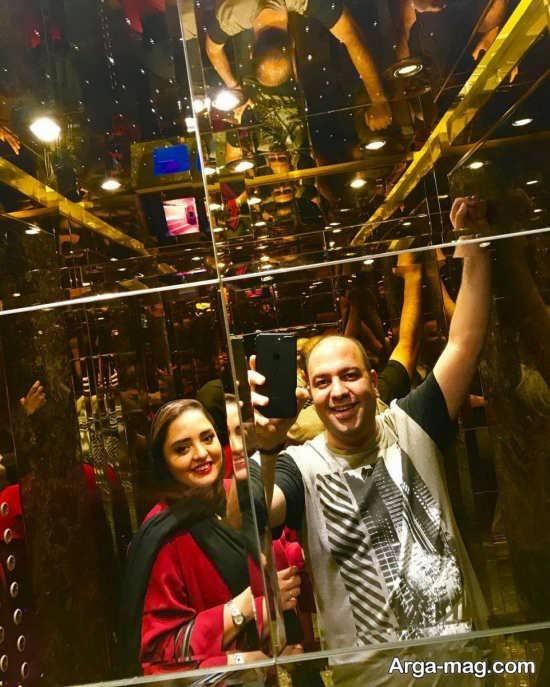 سلفی نرگس محمدی و همسرش
