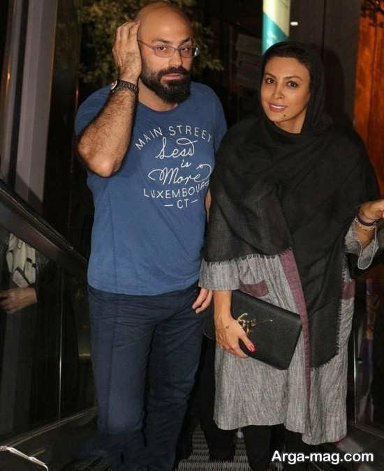 حدیثه تهرانی و همسرش