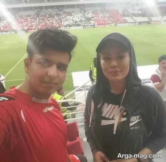 سحر قریشی در ورزشگاه امارات