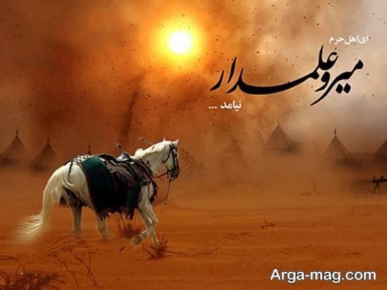 عکس نوشته در باره حرت عباس (ع)