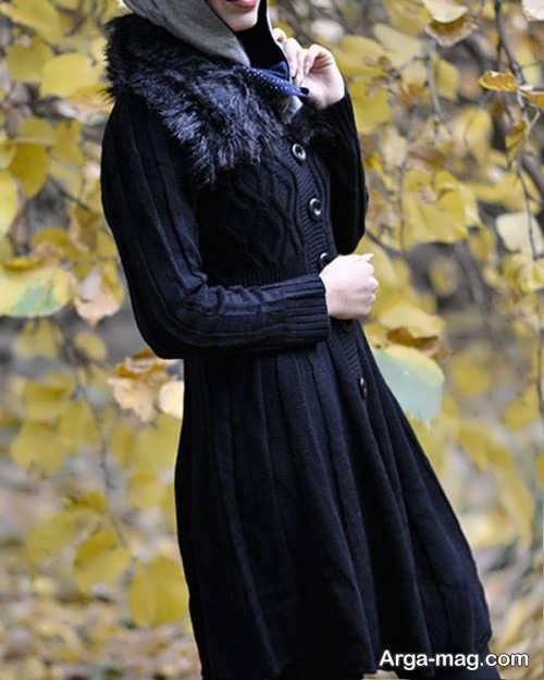 مدل مانتو خزدار زمستانی