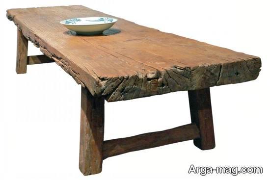 میز با تنه درخت